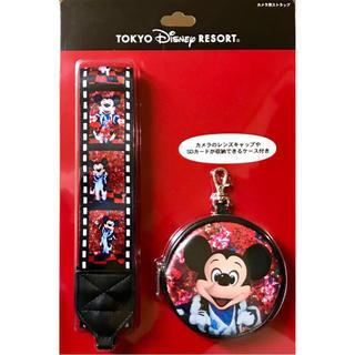 ディズニー(Disney)の新品 ディズニー 一眼 カメラストラップ ミッキー 35周年 実写 イマジニング(ネックストラップ)