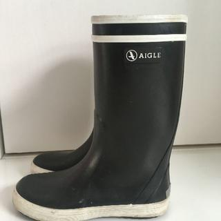 AIGLEエーグルキッズ/ロリポップ/長靴レインブーツ黒18.5cm