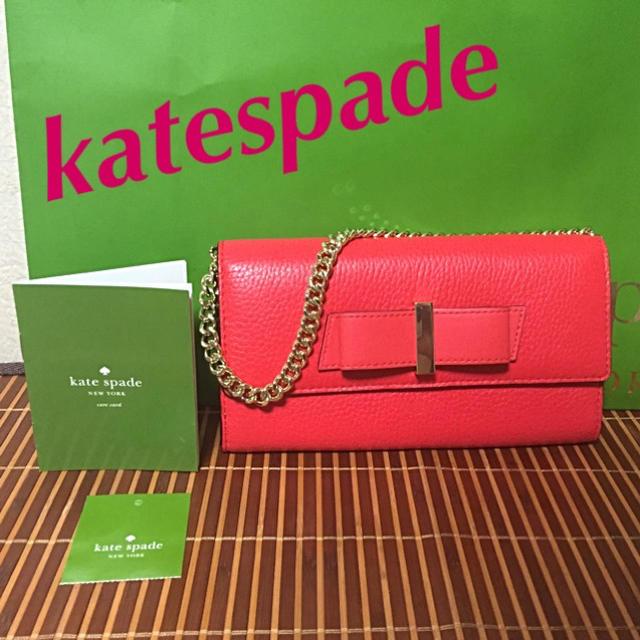 kate spade new york - 未使用 kate spade 取外し可能チェーン付きウォレットの通販 by maririn|ケイトスペードニューヨークならラクマ
