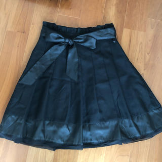 ギャルフィット(GAL FIT)の【GAL FIT】リボン付きプリーツスカート(ひざ丈スカート)