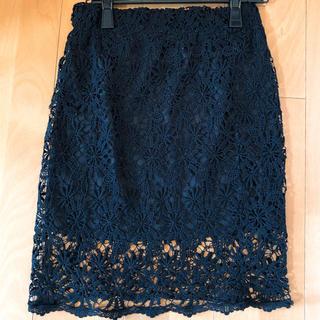 グラマラスガーデン(GLAMOROUS GARDEN)のレースタイトスカート(ひざ丈スカート)