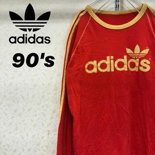 アディダス(adidas)の90's adidas アディダス ライン ロンT ジーパンと相性抜群(Tシャツ/カットソー(七分/長袖))