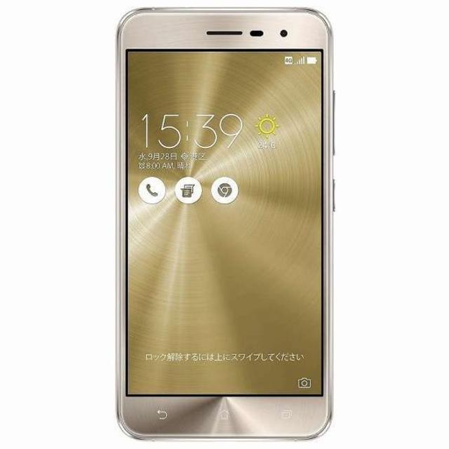 ASUS ZenFone 3 ZE520KL クリスタルゴールド SIMフリー スマホ/家電/カメラのスマートフォン/携帯電話(スマートフォン本体)の商品写真