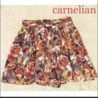 カーネリアン(carnelian)の167. carnelian(カーネリアン) 花柄キュロットパンツ 春 夏(キュロット)