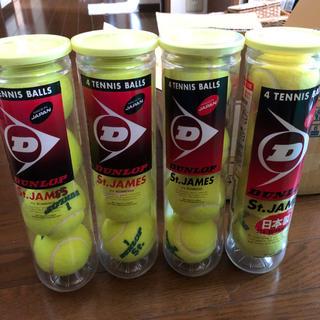 ダンロップ(DUNLOP)のテニスボール 新品未使用12個、使用済4個(ボール)