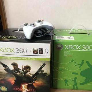 エックスボックス360(Xbox360)のxbox360本体二台とソフトまとめ売り(家庭用ゲーム本体)