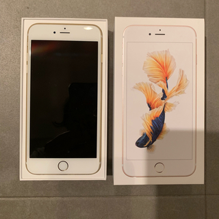 アイフォーン(iPhone)のiPhone6s plus ゴールド 128GB 中古(スマートフォン本体)
