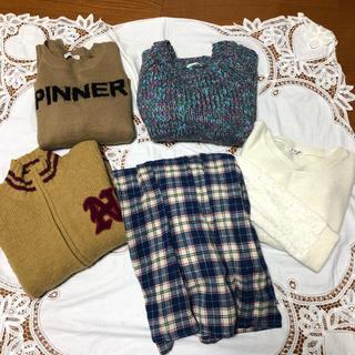 ニコルクラブ(NICOLE CLUB)のレディース セーター&スカート 5点セット(セット/コーデ)