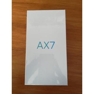 アンドロイド(ANDROID)のoppo ax7 ブルー 新品 未開封 4GB/64GB シムフリー(スマートフォン本体)