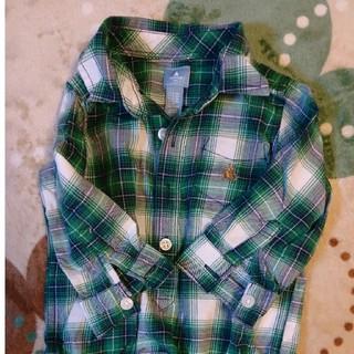 ギャップ(GAP)のGAP👔緑チェックシャツ(シャツ/カットソー)