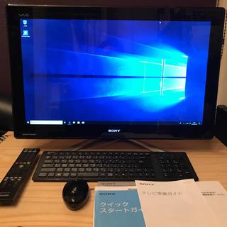 ソニー(SONY)のSONY VAIO デスクトップパソコン TV一体型24型 地デジ録画対応(デスクトップ型PC)