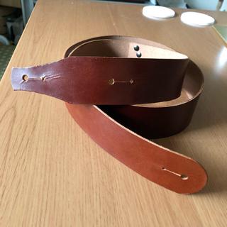 ギターストラップ  本革  赤茶色  サンプル品(ストラップ)