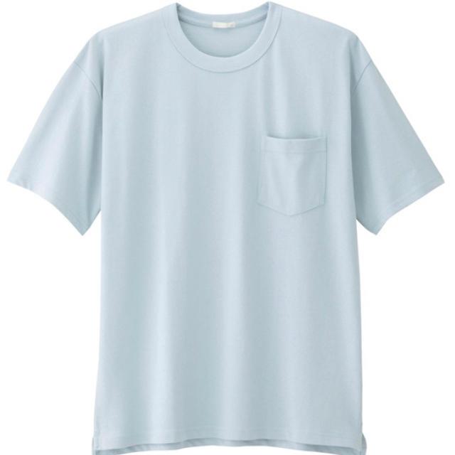 GU(ジーユー)のGU ヘビーウェイトビックTシャツ(ブルー) メンズのトップス(Tシャツ/カットソー(半袖/袖なし))の商品写真