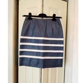 ルシェルブルー(LE CIEL BLEU)のLE CIEL BLEU ルシェルブルー 羊皮 スカート(ひざ丈スカート)
