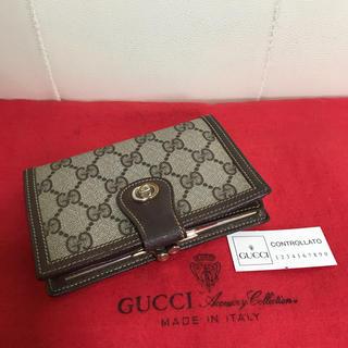 acc3897def73 グッチ(Gucci)の極 美品 GUCCI オールド グッチ がま口 小銭入れ 折れ 財布