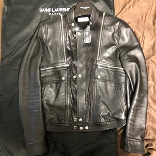 サンローラン(Saint Laurent)の正規品 サンローランパリ saint laurent ライダースジャケット 48(ライダースジャケット)
