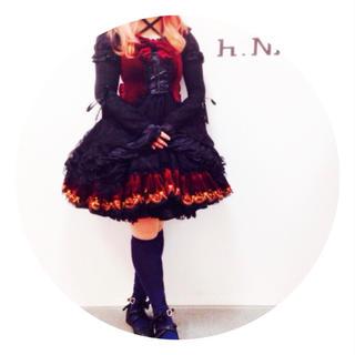 エイチナオト(h.naoto)の完売品 定価3万5千円 h.naoto FRILL ジャンパースカート(ひざ丈ワンピース)