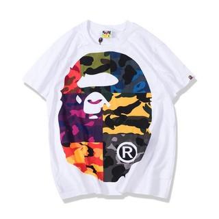 A BATHING APE - ABATHING APE/アベイシングエイプ カッコいい ホワイト Tシャツ