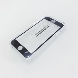85%OFF iPhone7用 3D保護ガラス(黒)最高品質異素材融合(保護フィルム)