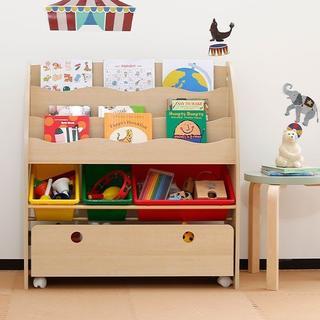 送料無料 キャスター付き! 木製 おもちゃ箱 キッズ おもちゃ収納 (収納/チェスト)