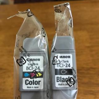 キヤノン(Canon)の新品未開封〜キャノン純正インクカートリッジ BCI-24 カラー&ブラック計2個(PC周辺機器)