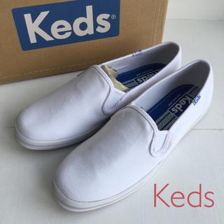 ケッズ(Keds)のKeds♪ レディーススリッポンシューズ US7(24cm) ホワイト(スニーカー)
