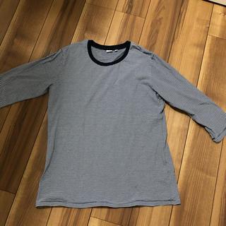 ユニクロ(UNIQLO)のメンズ ボーダー 七分袖 Tシャツ(シャツ)