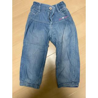 オリンカリ(OLLINKARI)のOLLINKARI デニム パンツ 七分丈 子供服150(パンツ/スパッツ)