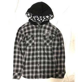 スカルシット(SKULL SHIT)のSKULLSHIT フード付きシャツ パーカー ジャケット (ナイロンジャケット)