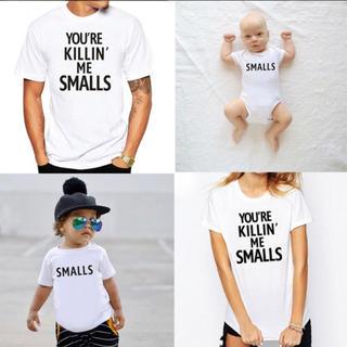 ジーユー(GU)のInstagramで大人気 レディース  メンズ キッズ お揃いTシャツ(Tシャツ/カットソー)