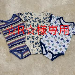 シマムラ(しまむら)の半袖 肌着 ロンパース 80(肌着/下着)