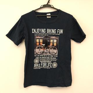 【T&K】自転車 バイク Sサイズ相当 ダークグリーン Tシャツ(Tシャツ/カットソー(半袖/袖なし))