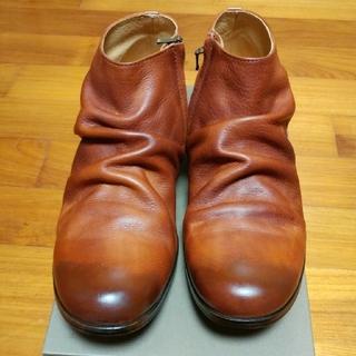 パドローネ(PADRONE)のPADRONE パドローネシワ加工ショートブーツ42(新品・未使用)(ブーツ)