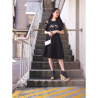 ハニーミーハニー(Honey mi Honey)のハニーミーハニー 2way stripe skirt(ひざ丈スカート)