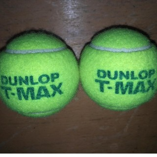 ダンロップ(DUNLOP)のテニスボール2個(ボール)
