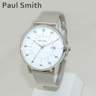 ポールスミス(Paul Smith)の新品 ポールスミス 腕時計 メンズ ホワイト文字盤 P10075 ベルト調整簡単(腕時計(アナログ))