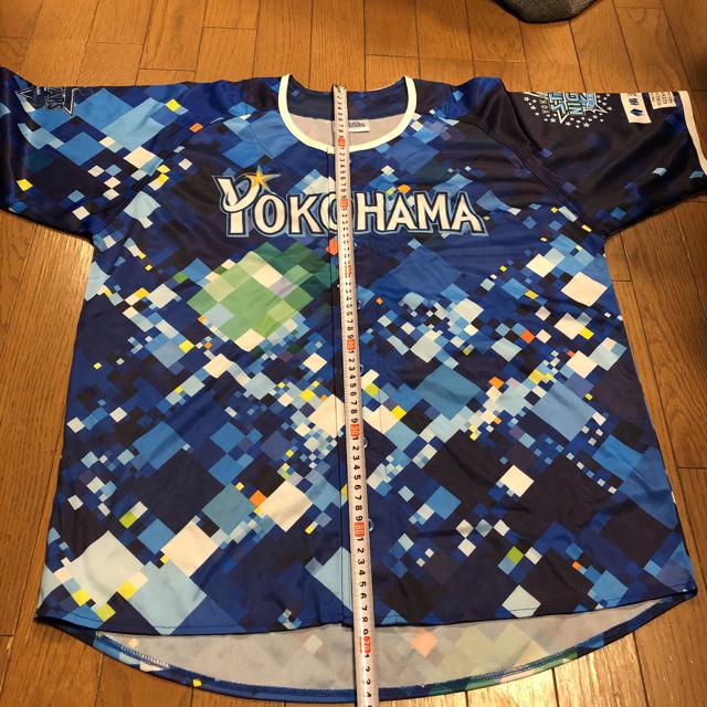横浜DeNAベイスターズ(ヨコハマディーエヌエーベイスターズ)のスターナイト ユニフォームとブルーライトとメガフォンセット売り スポーツ/アウトドアの野球(応援グッズ)の商品写真
