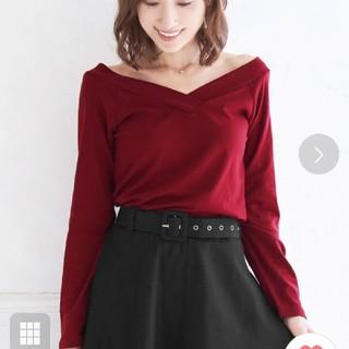 ニーナ(Nina)のVネックTシャツ長袖カットソー  (カットソー(長袖/七分))
