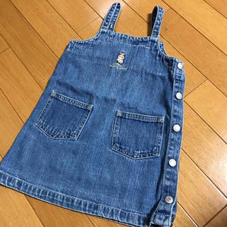 ラルフローレン(Ralph Lauren)のかーこさま♡♡ラルフローレン2Tデニムジャンパースカート(ワンピース)