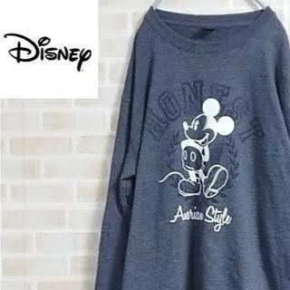 ディズニー(Disney)の古着90s Disney スウェット ミッキープリント Lサイズ(スウェット)