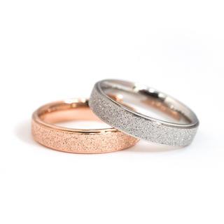 キラキララメチタンステンレスリング指輪 幅4mm版(リング(指輪))