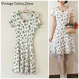 エディットフォールル(EDIT.FOR LULU)の60's Vintage♡アルプスの少女 Cotton flower dress(ひざ丈ワンピース)