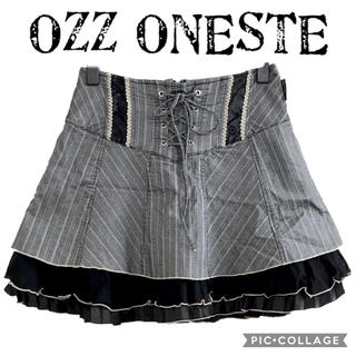 オッズオン(OZZON)のオッズオネスト 編み上げミニスカート(ミニスカート)