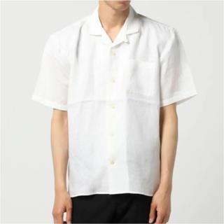 トランスコンチネンツ(TRANS CONTINENTS)のフレンチリネンオープンカラーシャツ(シャツ)