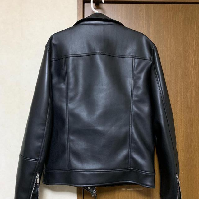 ZARA(ザラ)のレザージャケット Sサイズ メンズのジャケット/アウター(ライダースジャケット)の商品写真