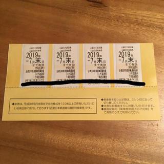 キンテツヒャッカテン(近鉄百貨店)の近鉄乗車券(鉄道乗車券)