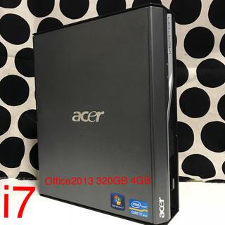 エイサー(Acer)のacer デスクトップ i7(デスクトップ型PC)