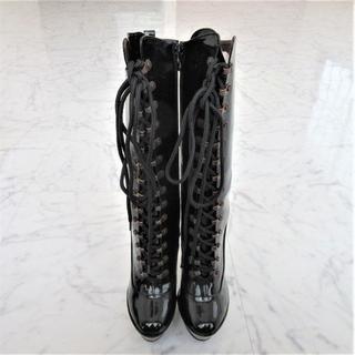 エイチナオト(h.naoto)の【h.NAOTO/hades】ZEPPELINロングブーツUS6(23cm)黒(ブーツ)
