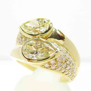 K18 ダブルペアシェイプダイヤモンドリング(リング(指輪))