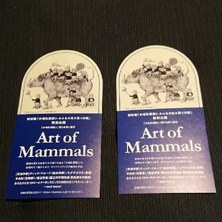 Art of Mammals 大哺乳類展2 ヒグチユウコデザイン 割引券(美術館/博物館)